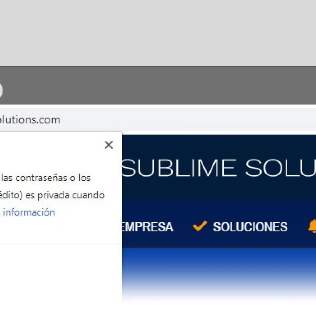 Sitio seguro certificado ssl.